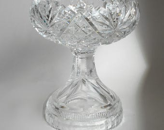 Czech lead crystal sweet dish
