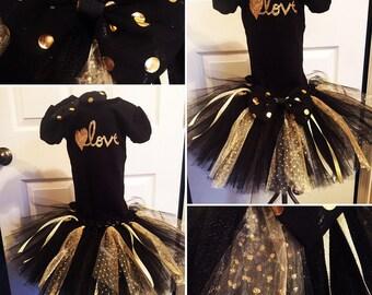Black and Gold LOVE TuTu