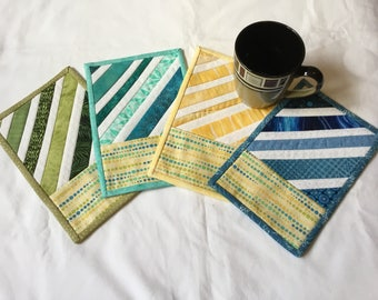 Soft Colors Mug Rugs Set of 4