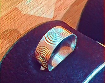 Pure Silver Spiral Ring