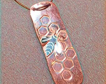 Pure Copper Bee Pendant
