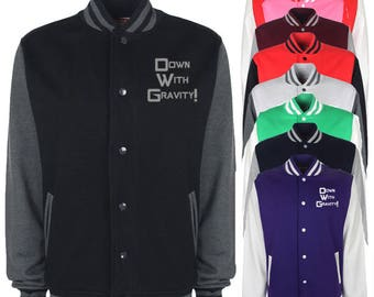 Down With Gravity Varsity Jacket
