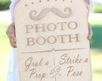 Photo Booth Sign Rustic  Chic Wedding Decor Photo Prop (Item Number 20204)
