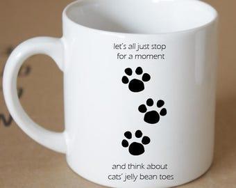 Kitty Jellybean Toes Coffee Mug