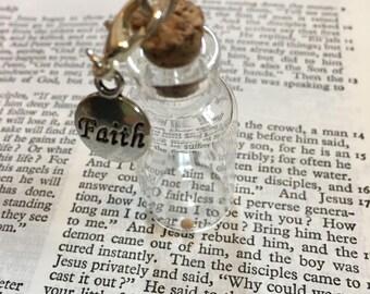 Faith as big as mustard seed bottle Matthew 17:20