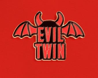 Evil Twin Enamel Pin
