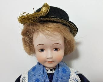 Walter Schneider Porcelain Doll with Certificate Collector's Doll German Doll Vintage Doll Beautiful Doll High Quality Doll