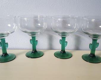 Vintage Libbey Catus Margarita Glasses Rare*