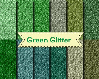 "Green glitter high quality scrapbooking paper wedding invitation party 12x12"" glitter background 12 colours"