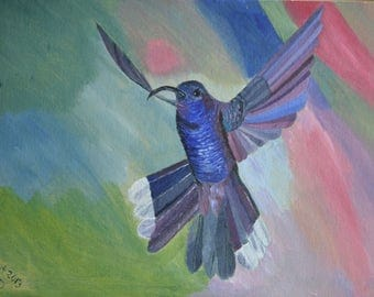 birds, humming bird, wall art, painting