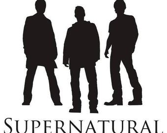 Supernatural Dean Sam Winchester Horror Vinyl Car Decal Bumper Window Sticker Any Color Multiple Sizes