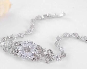 Crystal bridal bracelet