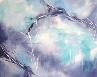Großes abstraktes Bild, Abstract painting, modern art, Abstrakte Kunst, Acrylbild, wall art, abstract art