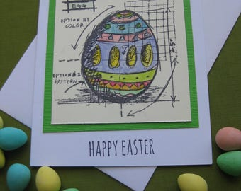 Handmade Happy Easter Card with Easter Egg