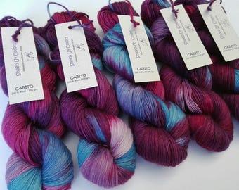 Hand Dyed - Cabito yarn of Sheep Uy Colors - 100 % Wool - Uruguayan Wool - Color Lavanda #1016