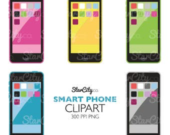 Smart Phone clipart, Phone Clip Art, Phone Graphic, Phone Image, Phone Artwork, Design Elements, Commercial Use, instant download