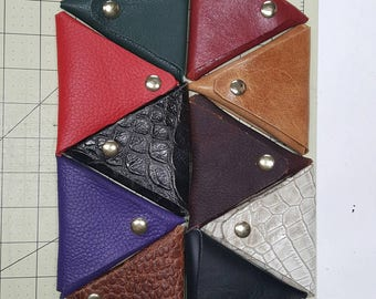 Genuine leather coin purses. Multi colors