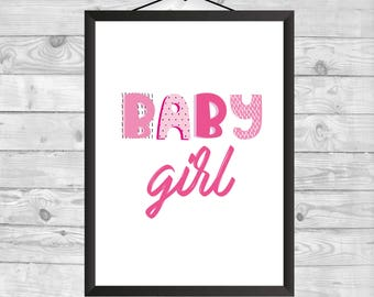 Baby girl WallArt, Nursery Decor, Baby Gift, Nursery Wall Art, Baby girl Printable, Kids Decor, Printable Nursery Art, Kids Decor, Printable