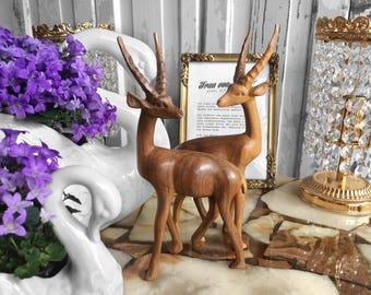 Mid century Gazelle / 60s wooden gazelle