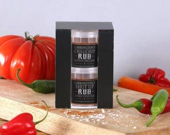 Chilli Spice Rub Cooking Gift Box, BBQ spice rub, grilling rub, gift for him, gift for her, gift for chilli lover