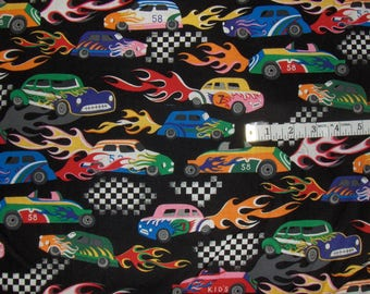 Michael Miller Fabric by the Yard - Hot Rods