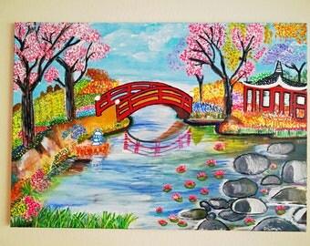 Handmade Painting - Japanese Garden