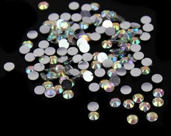 Swarovski crystals flat back stones gems rhinestones non hotfix 30 piece crystal ab clear