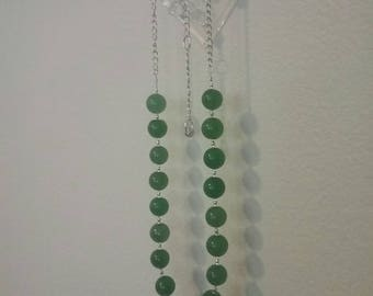 Aventurine and Sterling silver necklace