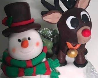 Fondant christmas figures