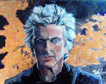 Peter Capaldi Doctor Who Series 10 Painting A3 in size.
