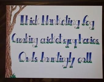 Original Haiku ~ Handwritten and Designed