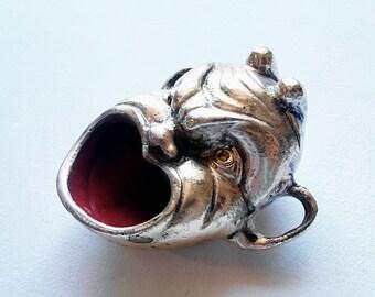 Devil face brass ashtray. Vintage Italy 1960