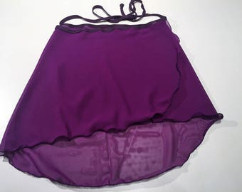 Hand-sewn Ballet skirt, violet, short / medium
