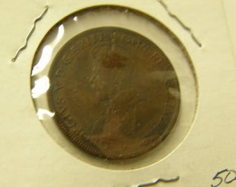 Australia 1917 Half Cent Copper Coin - A Very Nice Coin