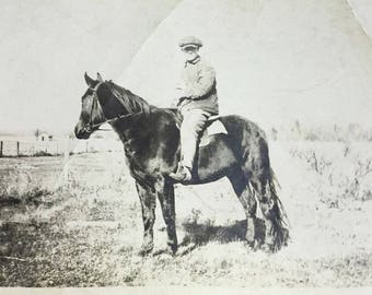 Vintage Photo Horse and Rider Photography, Paper Ephemera, Snapshot, Old Photo, Collectibles #26