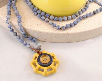 Painted Vintage Spigot Necklace