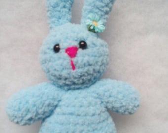 18 cm Light Blue Rabbit Crocheted Soft Toy