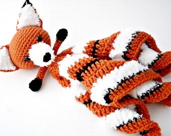 Crochet Lovey,Crochet Fox Lovey,Fox Baby Blanket,Orange and White,Handmade Baby Blanket,Woodland Blanket,Woodland Theme,Baby Gift,Baby Girl