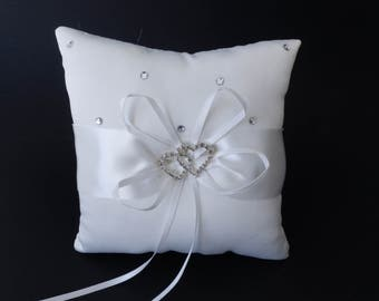 Cushion white alliances & rhinestones