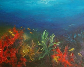 Seabed with coral