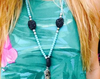 Blue Hawaiian Necklace