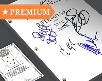 Supernatural - Pilot Episode TV Script Screenplay  Signed Autograph Reprint - Jensen Ackles, Jared Padalecki, Samantha Smith