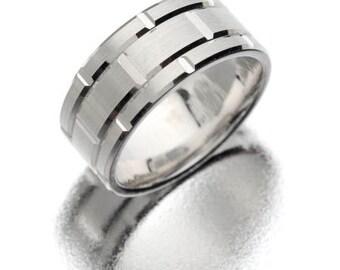 Tungsten Carbide - White wedding band