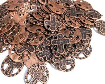 Copper Cross Pendant