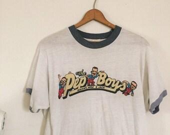 VINTAGE 80's Pep Boys Tee