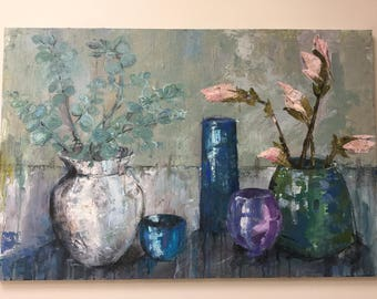 original painting 'Magnolia and Eucalyptus'