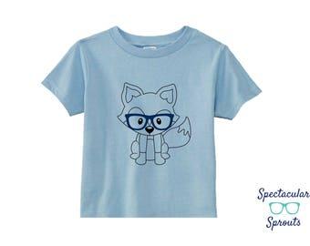 Kids Fox Shirt | Kids Glasses Tshirt | Glasses Shirt | Woodland Animal Glasses T Shirt | Personalized Kids Clothing | Girl Boy Fox Tshirt