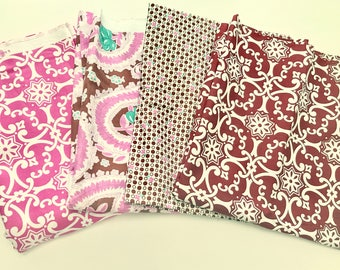 Jennifer Paganelli Fabric Bundle - Pink and Brown Bundle Out of Print fabrics