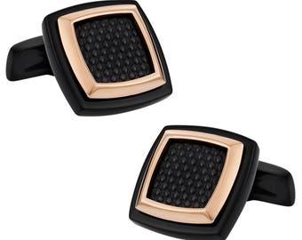 Rich Copper Hematite Stainless Steel Cufflinks