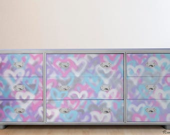 Email for shipping quote. See below. Dresser, Children's Dresser, Kid's Dresser, Kid's furniture, Furniture, Graffiti Dresser, Handpainted